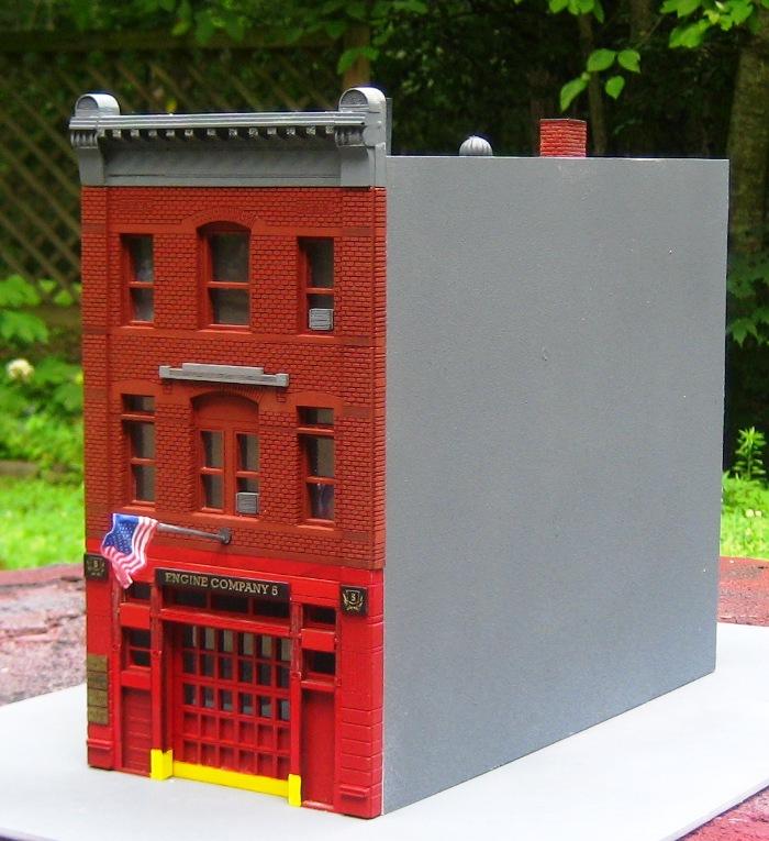 Built O Scale Fdny Engine Co 5 Firehouse